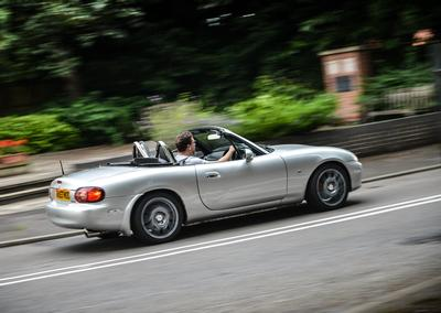 Mazda MX-5 fitted with SuperPro Anti-Roll Bars being driven by Paul Cowland