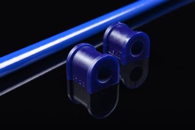 Close-up of the SuperPro anti-roll bar mounting bushes